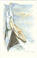 23663 Aquarelles Aquarelle A M Monpezat Pour Bouchara - Voilier  Marin Plaisance