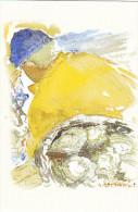23665 Aquarelles Aquarelle A M Monpezat Pour Bouchara - Bateau Peche Pecheur Marin Dessin - Pêche