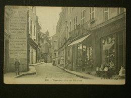 Ref2447 AX109 CPA Animée De Nevers (Bourgogne) - Rue Des Récollets (Commerces) - 1914, Carte N°180 - Nevers