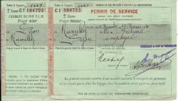 PLM . PERMIS DE SERVICE . LYON RUMILLY - Chemins De Fer