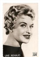 LINE RENAUD   DEDICACE  LORS DE LA COURSE DU SUD-EST EN  MAI 1958....BON ETAT... 2 SCANS - Célébrités