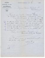 HOTEL De La POMME D'OR Tenu Par  GOBERT à CLERMONT EN ARGONNE (MEUSE) 1882 - Vieux Papiers