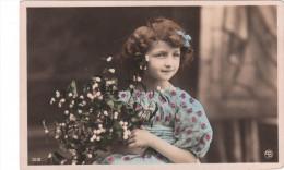 Carte Postale Ancienne Fantaisie - Enfant - Fleurs - Otros