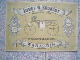Varasdin, Wagen Bauer,Josef G.Kronást ,  Croatia - Croatia