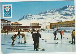 Cpsm  38 Isere   Grenoble Jeux Olympiques D Hiver 1968 Alpes D Huez La Patinoire Et Les Grandes Rousses - Grenoble