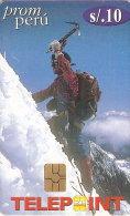 TARJETA DE PERU DE UN ESCALADOR EN LA MONTAÑA (MOUNTAIN) - Montañas