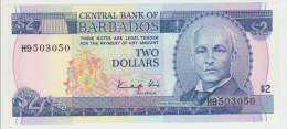 Barbados  2 Dollars 1986 Pick 36 UNC - Barbados