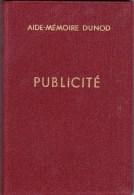 Aide-mémoir Dunod Publicité - 1962 - Publicité