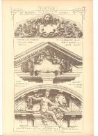Architecture - Sculpture -  Tympan  Verviers - Lyon, Nuremberg Et Buenos-Ayres (b26) - Sculptures