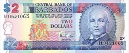 Barbados  2 Dollars 1999 Pick 54a UNC - Barbados