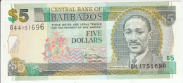 Barbados  5 Dollars 2000 Pick 61 UNC - Barbados