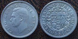 (J) NEW ZEALAND: 1/2 Crown 1950 AU (918)  SALE!!!!!! - Nueva Zelanda