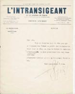 FERNAND DIVOIRE (1883 BRUXELLES 1951 VAUCRESSON) ECRIVAIN D'ORIGINE BELGE NATURALISE FRANCAIS  LA S 1923 - Autogramme & Autographen