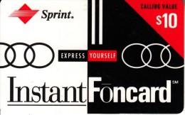 USA - Sprint Prepaid Card $10, Exp.date 31/12/95, Used