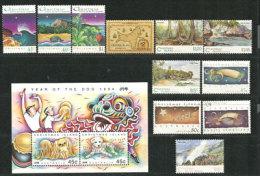 Années 1993 & 1994.  11 T-p + 1 BF Neufs **.  Côte 31,00 € - Christmas Island