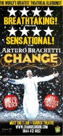 Arturo Brachetti Change Theatre Leaflet Flyer Handbill - Advertising