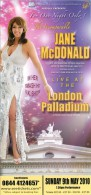 Jane McDonald London Palladium Theatre London Leaflet Flyer Handbill - Advertising