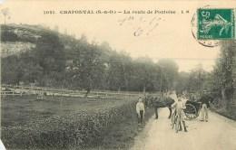 95  Chaponval  La Route De Pontoise - Altri Comuni