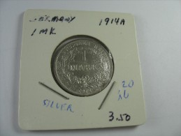 GERMANY  1 MARK 1914 A    SILVER HIGH GRADE CHOICE AU UNC   LOT 16 NUM 20 - [ 2] 1871-1918 : Empire Allemand