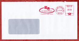 Brief, Francotyp-Postalia F28-4542, Cobana Fruchtring Starkes Doppel Fruchthof Halle, 110 Pfg, 1997 (52773) - BRD