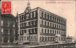! Old Postcard Trois-Rivières , Ecole Normale, Schule, School, Quebec, Kanada, Canada, IDO Language, RECP