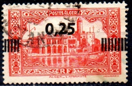 ALGERIA 1938 Admiralty And Penon Lighthouse, Algiers  - Surcharged 25c. On 50c. - Red   FU - Usati