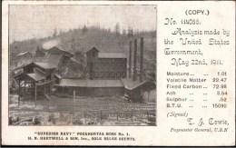 ! Old Postcard Pocahontas Mine Hartwell & Son, USA, Coal Mine, Carbon, Charbon, Mining, Bergbau - Mijnen
