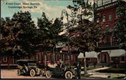 ! Old Postcard Hotel Bartlett, Cambridge Springs, USA, Pennsylvania, Cars, Voitures, Flag Cancel, Münster In Westfalen - Other