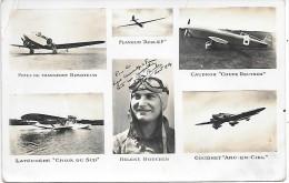 Aviatrice HELENE BOUCHER + Avions - Aviatori