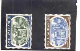 Vaticano Yvert 245-46 (MH/(*)) (sin Goma) - Vaticano (Ciudad Del)