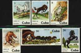 Cuba  MNH Scott 2433-38 Horses - Cuba
