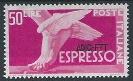 1952 TRIESTE A ESPRESSO 50 LIRE MH * - ED025-6 - Eilsendung (Eilpost)