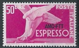 1952 TRIESTE A ESPRESSO 50 LIRE MH * - ED026 - 7. Triest