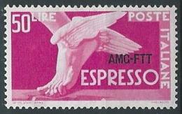 1952 TRIESTE A ESPRESSO 50 LIRE MH * - ED026-3 - 7. Triest