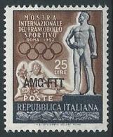1952 TRIESTE A FRANCOBOLLO SPORTIVO MNH ** - ED026-5 - Ungebraucht