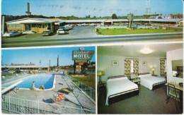 Elizabethtown Kentucky, Cardinal Motel & Dining Room, Auto, Room Interior View, C1960s Vintage Postcard - United States