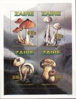ZAIRE CONGO KONGO 1996 MUSHROOMS CHAMPIGNONS PILZE FUNGHI HONGOS COGUMELOS  MNH NEUFS ** FUN - Champignons