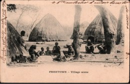 ! Old Postcard Freetown, Village, Afrique, Africa, Afrika, Sierra Leone - Sierra Leone