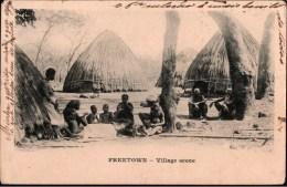 ! Old Postcard, Alte Ansichtskarte Freetown, Village, Afrique, Africa, Afrika, Sierra Leone - Sierra Leone