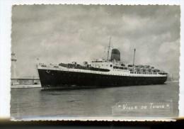 CPM   Bateau  :   Le Ville De TUNIS  1957     A    VOIR  !!!! - Steamers