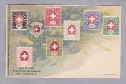 Motiv Briefmarken  Die Alten Telegraphenmarken Der Schweiz Litho Menke-Huber Ungebraucht - Timbres (représentations)