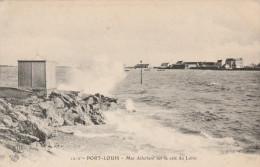 PORT LOUIS -56- MER DEFERLANT SUR LA CALE DU LOHIC - Port Louis