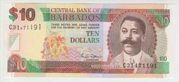 Barbados  10 Dollars 2000 Pick 62 UNC - Barbados