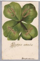 Motiv Neujahr 1904 Präge Litho Kleeblatt 1903.III.31 Fleurier Nach Cortaillod - Nouvel An