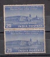INDIA,  1954,  World Forestry Congress,  Pair, MNH, (**) - Nuovi