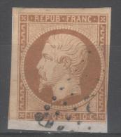 Louis-Napoléon  N° 9a (Bistre-brun)  Avec Oblitèration Losange  Sur Fragment  TTB - 1852 Louis-Napoleon