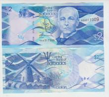 Barbados  2 Dollars 2013 Pick NEW UNC - Barbados (Barbuda)