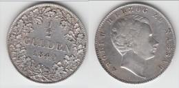 NASSAU **** ALLEMAGNE - GERMANY - 1/2 GULDEN 1840 ADOLPH II - SILVER **** EN ACHAT IMMEDIAT !!! - [ 1] …-1871 : Etats Allemands