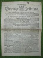 A2688) Oberschlesien Grenz-Zeitung 23.7.1920 Mit Interessanten Artikeln
