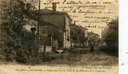 51-VILLERS EN ARGONNE..habitations Sur La Route De Ste-menehould A Passavant....CPA  ANIMEE - Altri Comuni